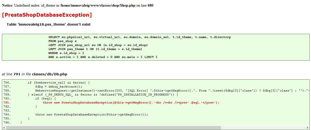 Erreur 500 Prestashop Hebergement Web Ovh Community